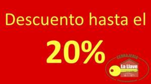 descuentos 20 %